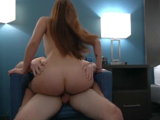 Irresistible Young Redhead Seduces Her Masseuse