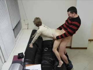 real office secretary always ready to fuck in doggy
