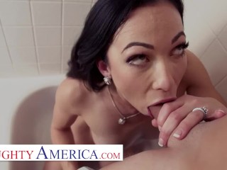 Naughty America - Diana Grace likes to show her husband the tricks of her sex working job