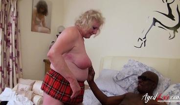 AgedLovE Interracial Three Mature Ladies Group Sex