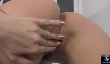 PornStreamLive presents - Eve Angel bathroom masturbation
