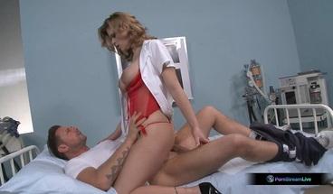 PornStreamLive presents - Natasha Brill heals her patient with sexual treatment