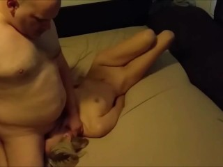 Cheating blonde wife dominated on real homemade