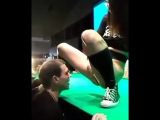 Teen's Incredible Mega Squirting on Public Live Stage