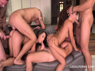 Anal Orgy With Two Hardcore Babes