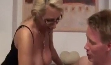 Sexy Russian Milf & Young Friend Fuck