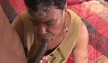 Young stallion is seduced by horny grandma