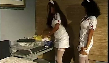 Watch two slutty nurses go at it on their break