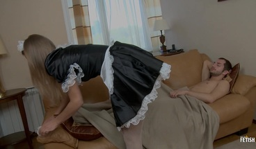 Sexy maid with big boobs gets anal fucking