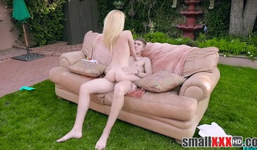 Blonde Tiny Teen Step Sister Fucked By Older Brother Outside