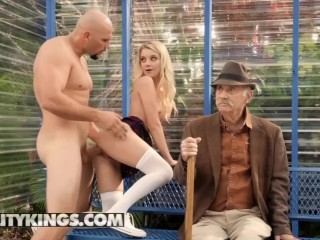 Reality Kings - Small blonde Teens Riley Star doesnt care who's watching