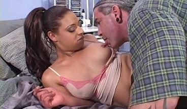 BIg booty brunette cutie enjoys a hot fuck