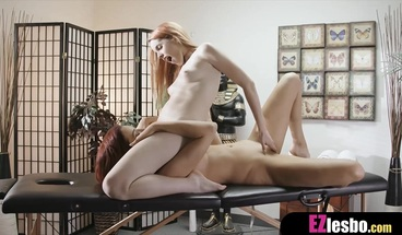 After a long day at work all she need is a sexy massage
