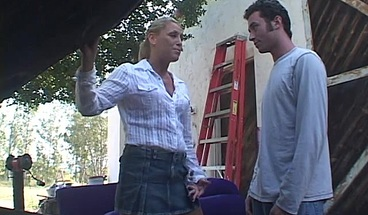 Horny blonde receives a hard drilling by James Deen