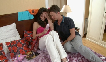 Pervert step brother seduces step sister for oral & anal sex