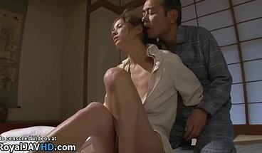 Japanese wife fucked by the horny friend of her husband