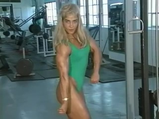 Sexy Vintage Muscle Girl