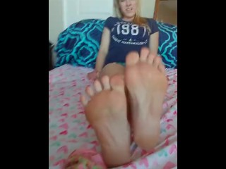 Sock Strip & Sniff. (Property of Freakyfaces & Feet))