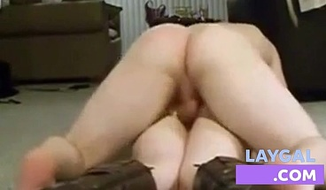 Pale Amateur Takes it up the Ass, on the Living Room Floor!