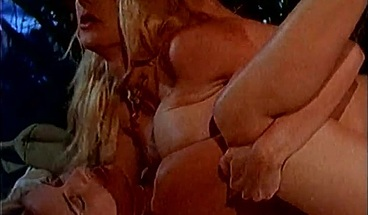 Two horny blondes make love while you watch