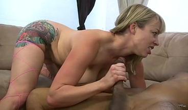 Blonde milf gets her first big black cock