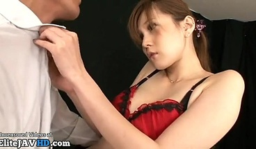 Japanese long legs model has sex in stockings