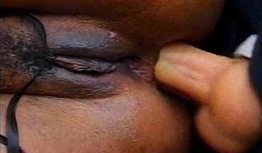 Curvy ebony slut fucks a cop's horny cock