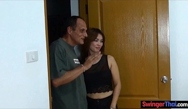 Thai wife brings a sexy friend home for a threesome