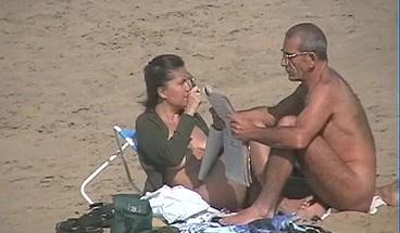 Nude Couples Spyied On Fuerte Ventura Island Beach
