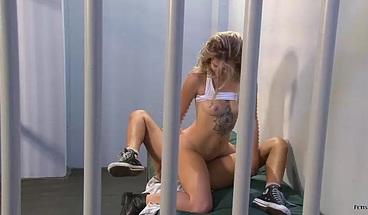 Horny lesbian prisoner fucks her cellmate