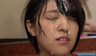 Jav Idol Kamiya Mitsuki Gets Massive Bukkake Drenched In Cum