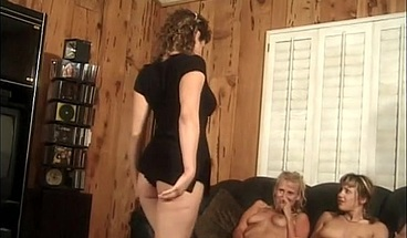 Five naughty bitches tease one another on the floor