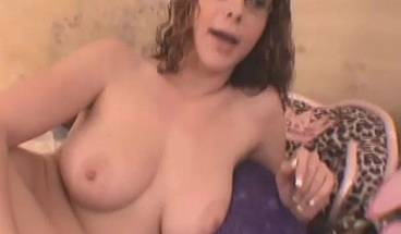 Brunette Milf Toying Her Shaved Pussy With Dildo