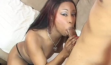 Beautiful ebony slut rides his thick throbbing cock