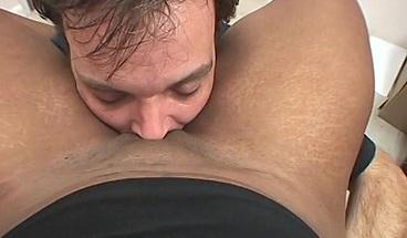 Horny ebony babe enjoys a POV doggystyle fuck