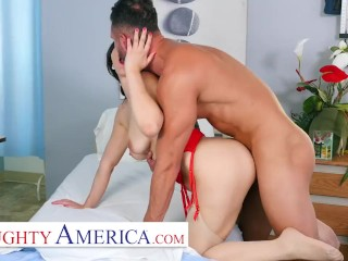 Naughty America - Nurse Valentina takes extra care of her patient