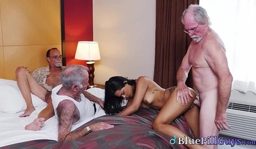 Young Latina Teen Picked Up By Dirty Old Men For Naughty Fun