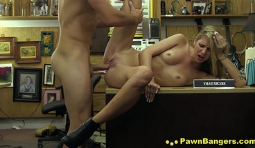 Pretty Blond Milf Puts Huge Dick In Mouth & Pussy For Cash
