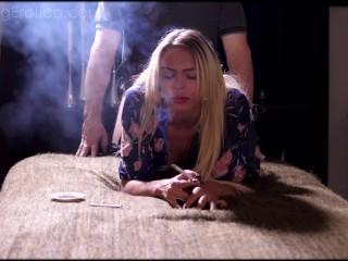 Smoking Young Bitch
