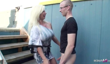 German Hairy Pussy Mom Seduce Friend of Daughter to Fuck